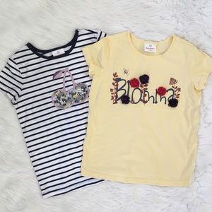 Hanna Andersson Girls Flower Tree Shirt Bundle